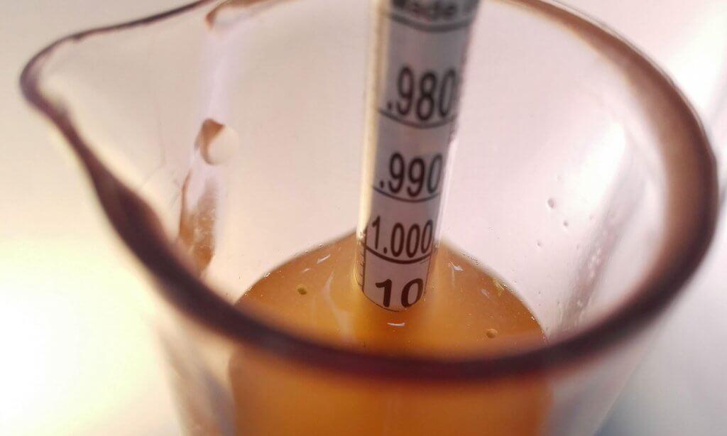Door het meten van de SG kun je het alcoholpercentage berekenen