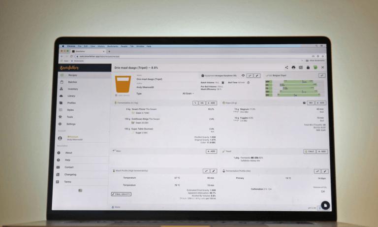 Brewfather is een online app voor het maken van o.a. brouwrecepten