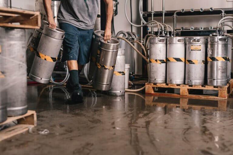 Wat bier vaten met misschien wel lokaal bier